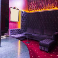 Lap dance club interior