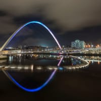 Gateshead Millennium Bridge at Night, Newcastle