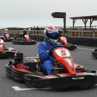 St Eval Kart Circuit - Karts on the starting grid