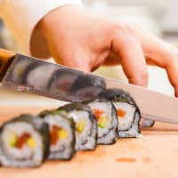 A sushi making workshop