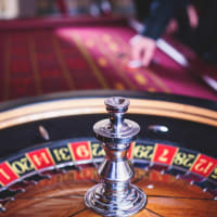 Casino night roulette table