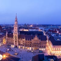Marienplatz square in Munich at night