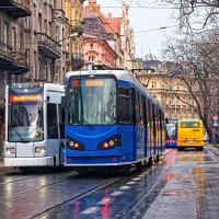 Trams in Krakow