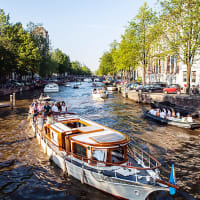 a boat party in Amsterdam
