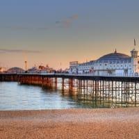 Brighton pier on a summer day