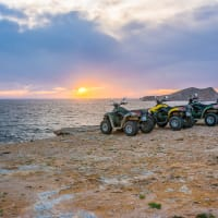 Emove Ibiza trek bikes by sunset