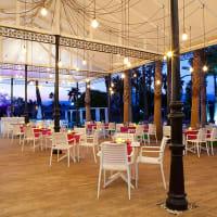Hotel Alicante Golf wedding venue outside eating area