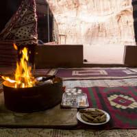 Desert Dinner in tent