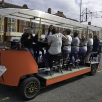 Pedal The Prom hen party logo removed