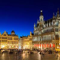 Brussels Belgium at night