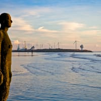 Seaside Art Antony Gormley