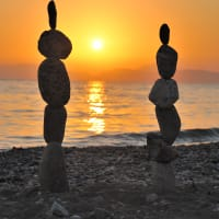 Seaside Art Stone Balancing