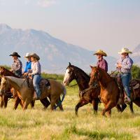 american horse back riding trek
