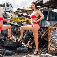 Bikini Babe Car Smash