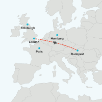 Flight London to Budapest