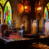 Medieval themed restaurant