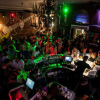 Rock cafe - dancefloor interior