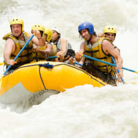 white water rafting stags
