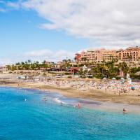 Tenerife beach sunny weather