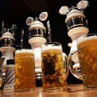 Steins on a bar