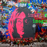 **EDITORIAL USE ONLY** Lennon Wall Prague