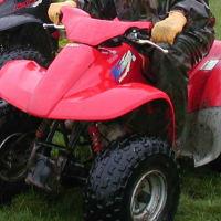 A Honda Sportrax Quad Bike