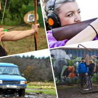 Blind 4x4 Driving, Clays, Axe Throwing & Archery