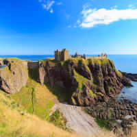 A view of Dunnottar castle in Aberdeen