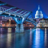 Millennium Bridge - St Paul Night