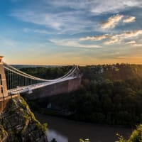 Clifton suspension bridge in Bristol