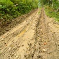Off road muddy track