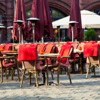 restaurant terrace area