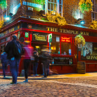 Temple Bar area in Dublin