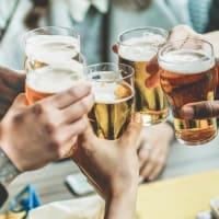People enjoying beers