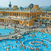 Szechenyi Spa Baths Outdoor Pool - daytime