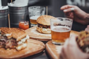 burger and beers