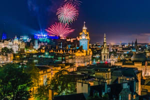 Firework display in Edinburgh