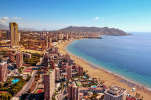 The beach in Benidorm