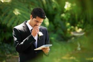 For a nervous groom