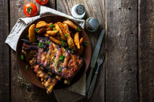 ribs and chips