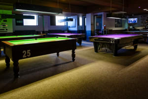 The Ballroom - Inside pool tables