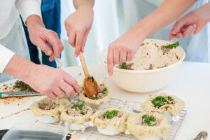 Pie making cookery workshop