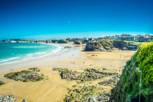 An image of Fistral beach in Newquay