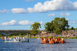 Latvia's Milk Carton Boat Race