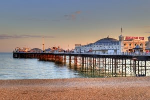 Brighton pier on a summer day