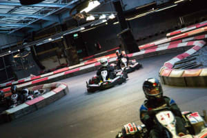 Team Sport Karting Cardiff - Karts on the track