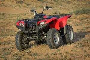 Yamaha Grizzly Quad Bike - Flipped