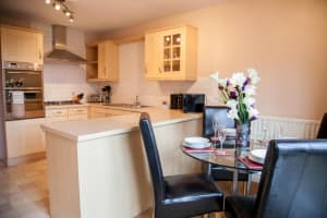 Royal Mile Apartments kitchen living room view