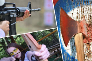 Multi Activity Choice archery target shooting and axe throwing