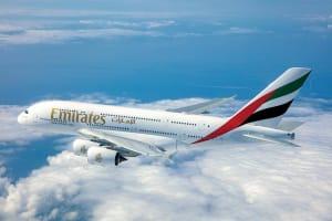 Emirates flight used for flight simulation product